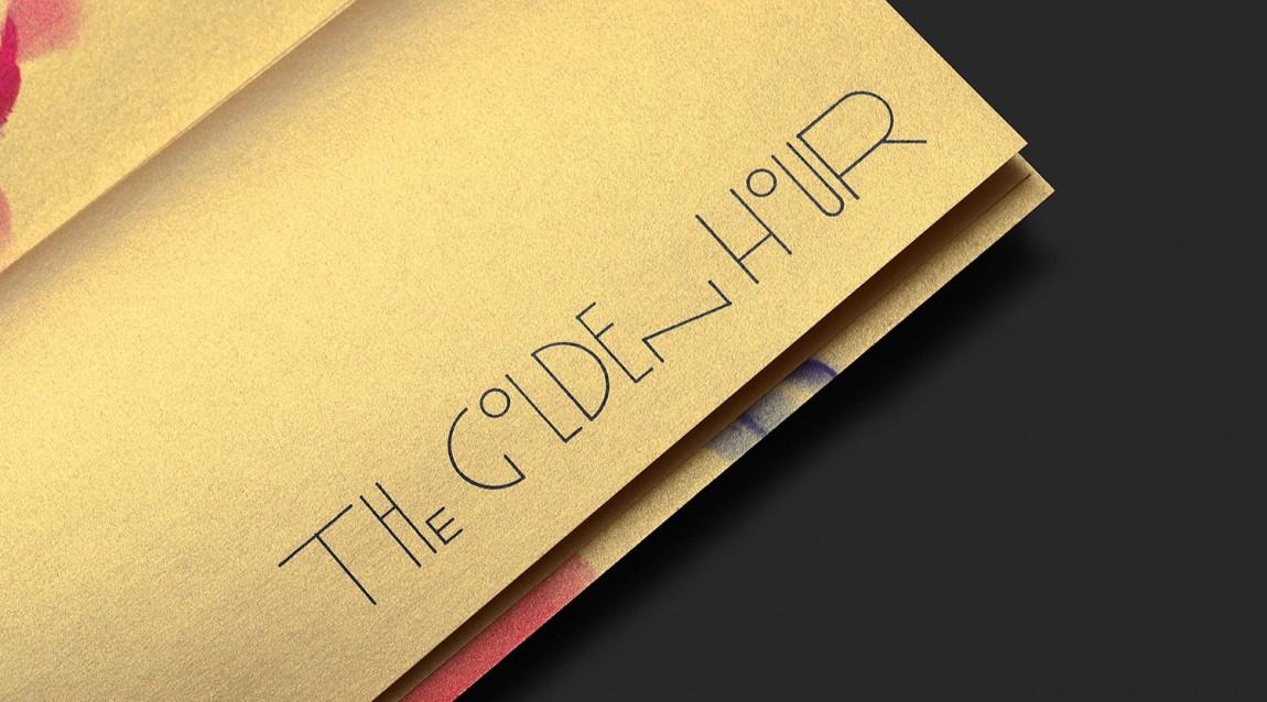 高线酒店黄金时间户外餐厅VI设计,字体设计