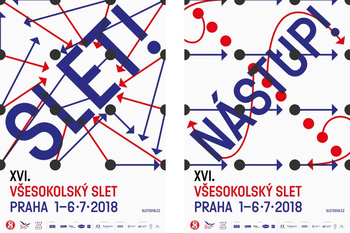 布拉格体育项目Slet品牌视觉形象设计案例,海报设计