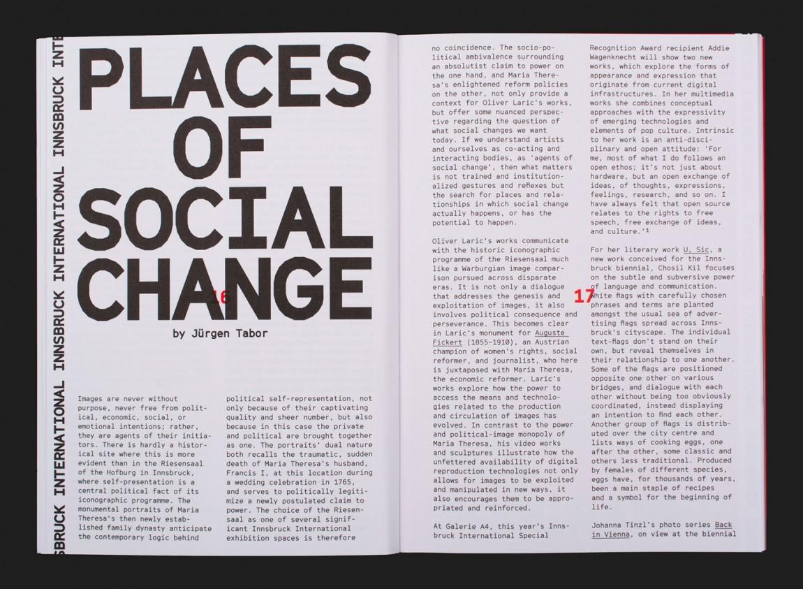 因斯布鲁克(Innsbruck)国际艺术双年展VI视觉形象设计, 手册设计