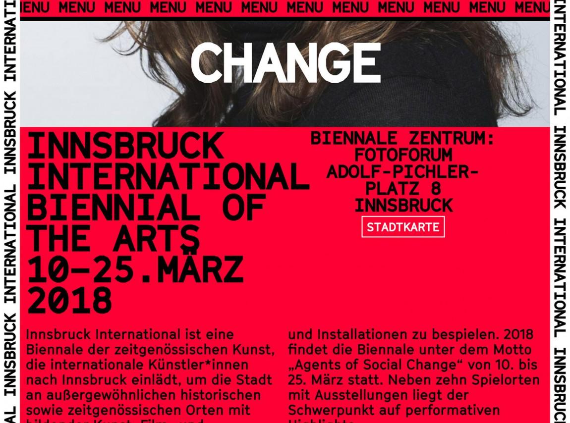 因斯布鲁克(Innsbruck)国际艺术双年展VI视觉形象设计,海报设计