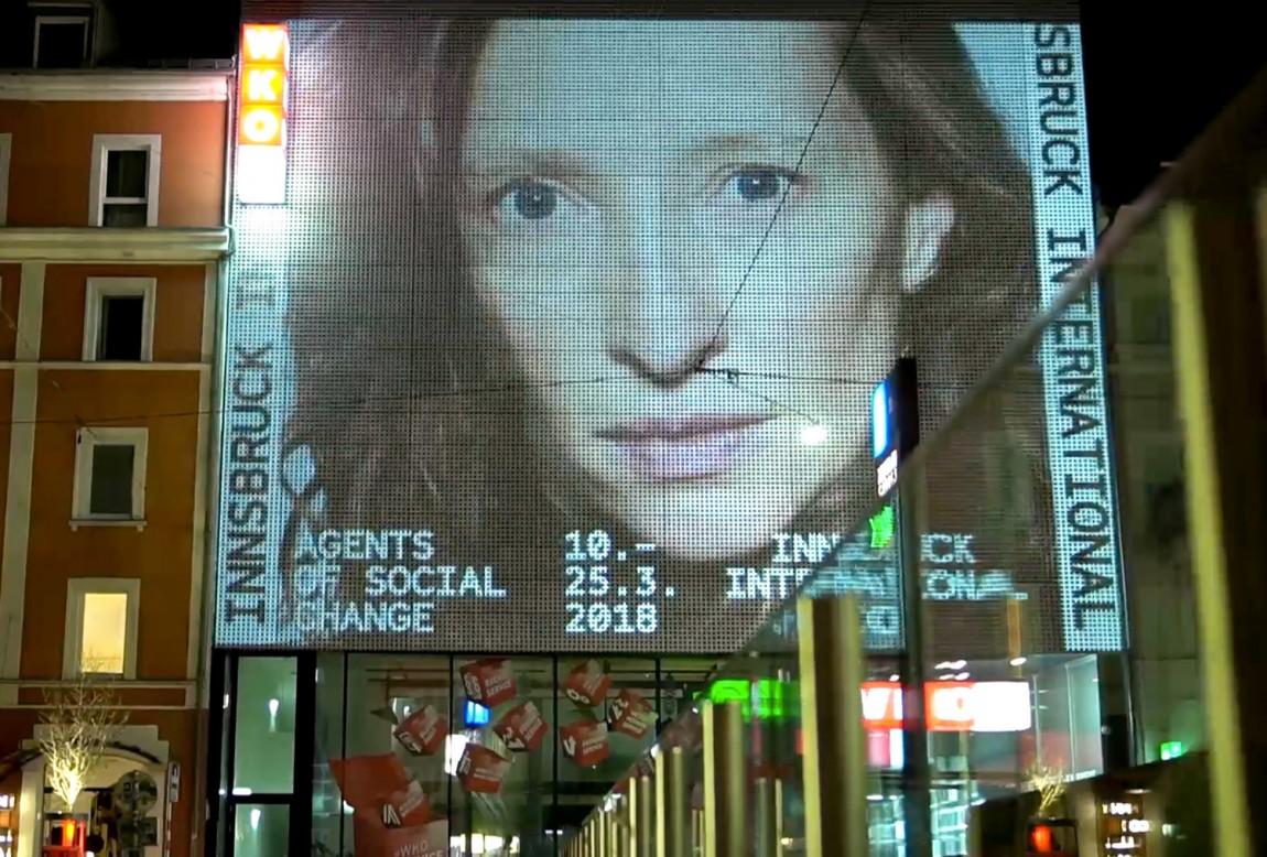 因斯布鲁克(Innsbruck)国际艺术双年展VI视觉形象设计,户外广告设计