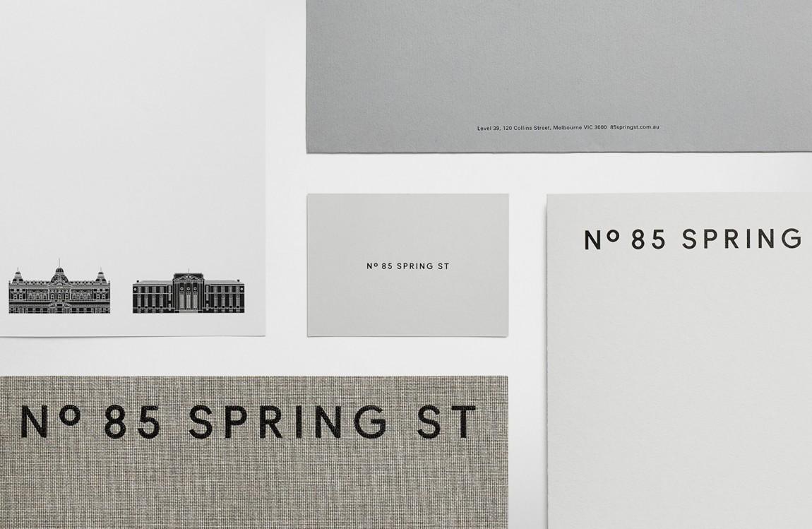 房地产住宅物业85度Spring ST品牌设计方案策划,办公应用设计