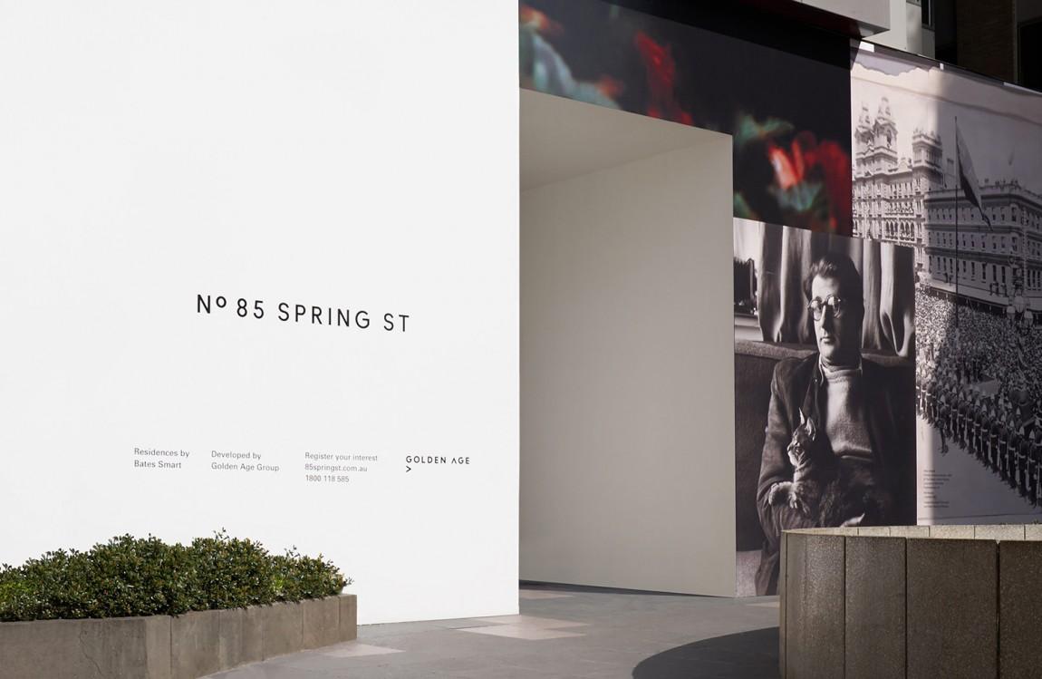 房地产住宅物业85度Spring ST品牌设计方案策划,户外广告设计