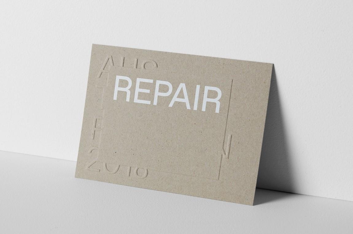 国际建筑双年展Repair展馆视觉形象设计,logo设计