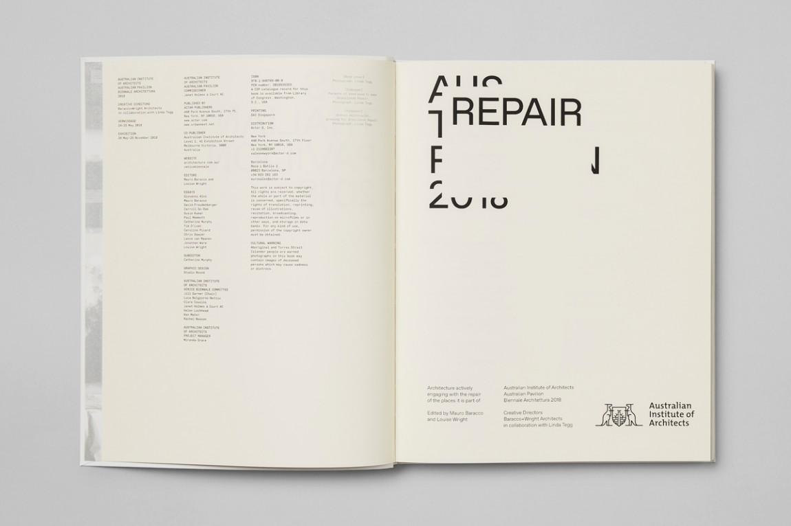 国际建筑双年展Repair展馆视觉形象设计,画册设计