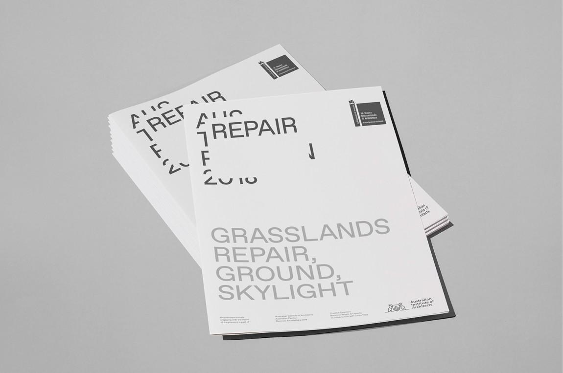 国际建筑双年展Repair展馆视觉形象设计,广告设计