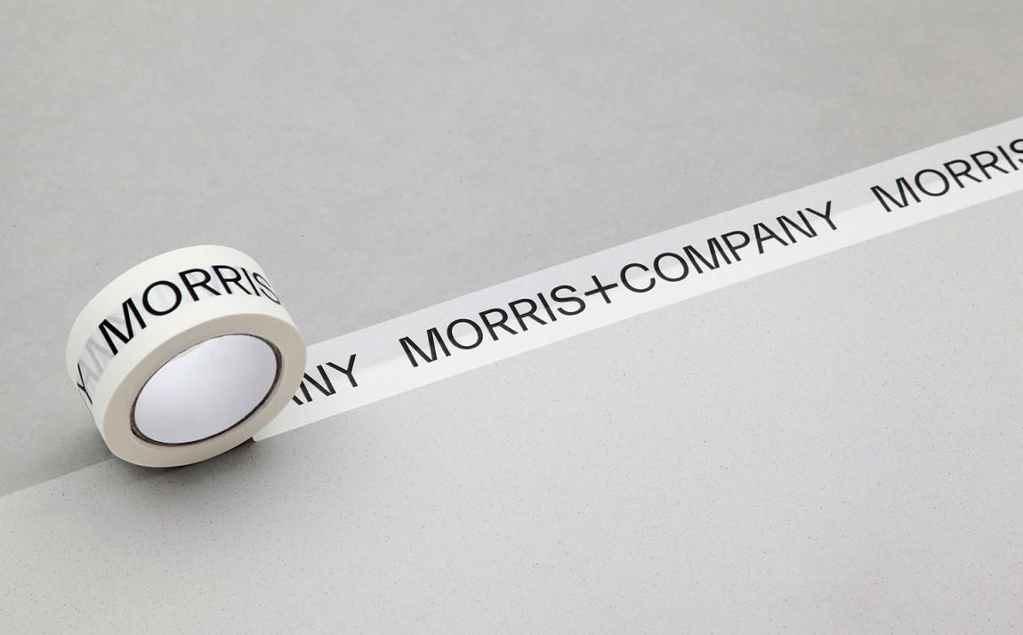 Morris + Company设计公司高端vi设计系统,胶带设计