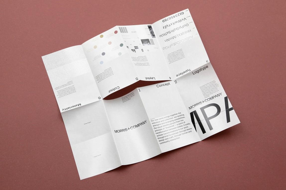 Morris + Company设计公司高端vi设计系统, 折页设计