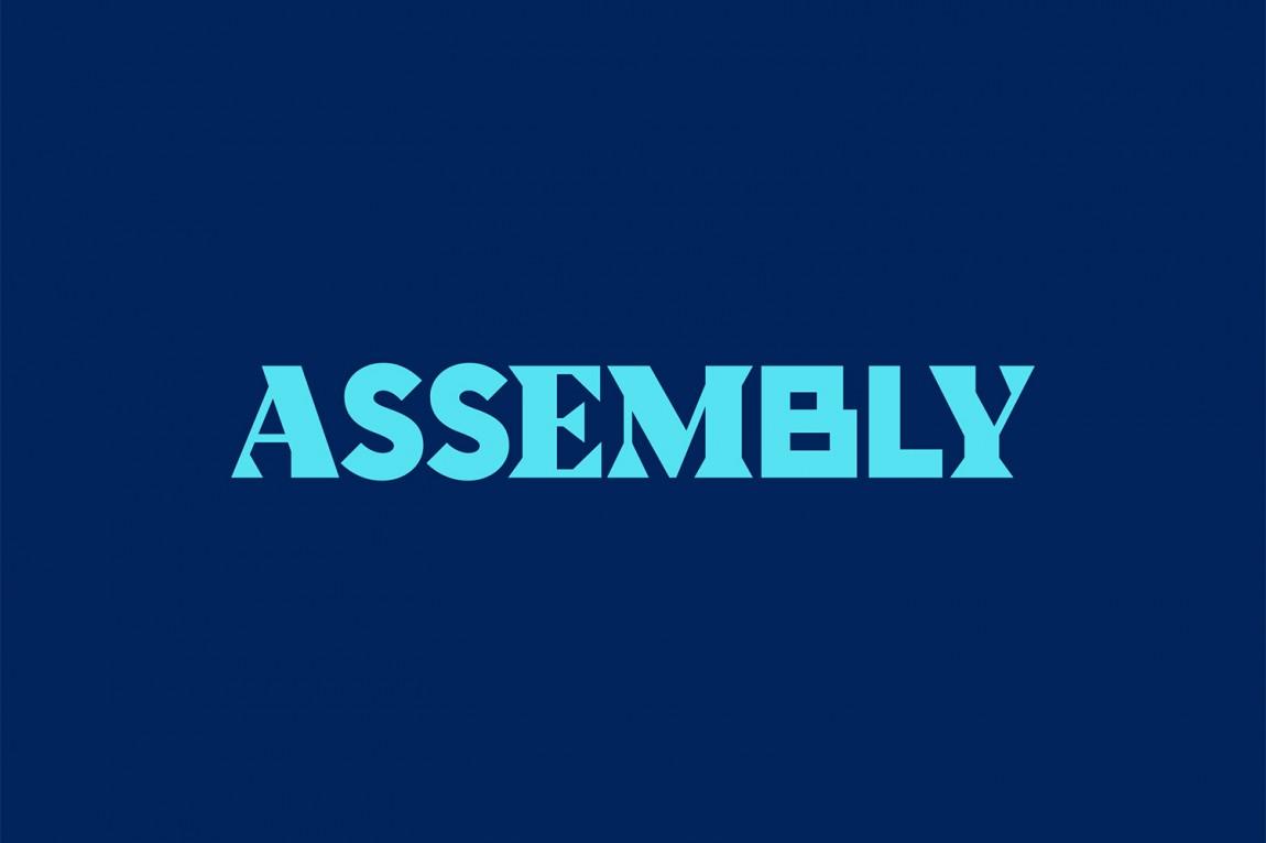Assembly城市酒店VI品牌形象设计,字母logo设计