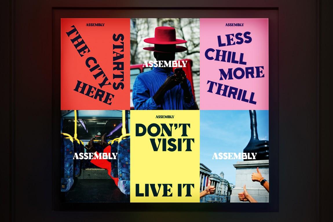 Assembly城市酒店VI品牌形象设计,海报设计