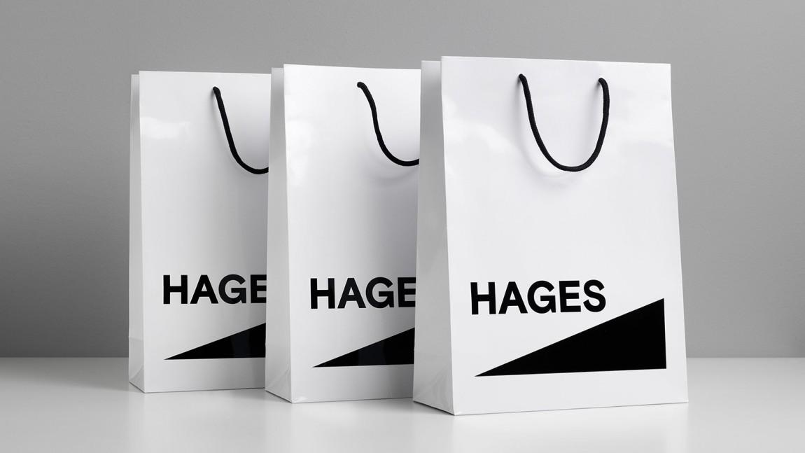 Hages品牌形象设计,手提袋设计