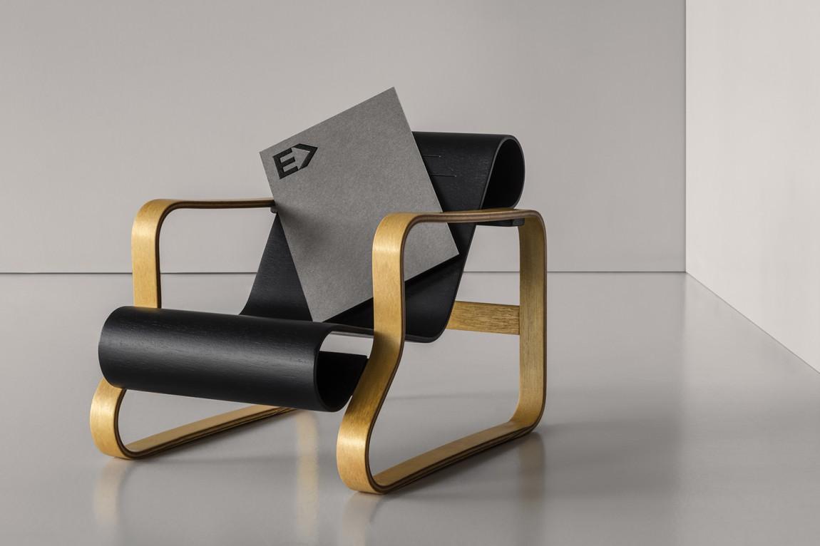 瑞典建筑公司Enter Arkitektur整体形象设计,logo应用工艺展示