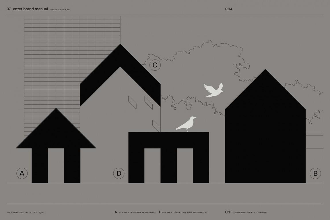 瑞典建筑公司Enter Arkitektur整体形象设计, 创意出发点