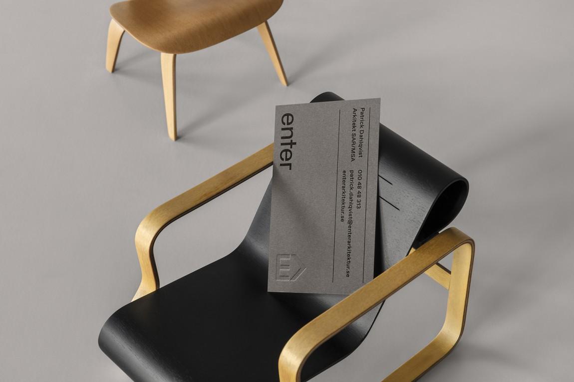 瑞典建筑公司Enter Arkitektur整体形象设计,名片设计