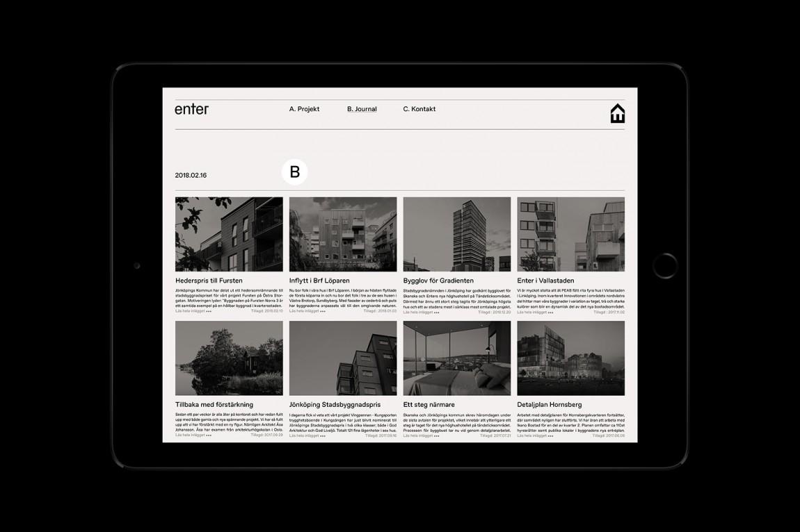 瑞典建筑公司Enter Arkitektur整体形象设计,公司网站设计