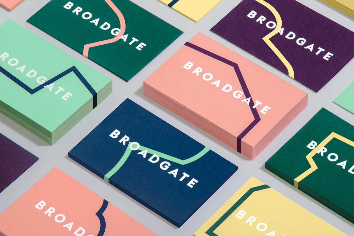 伦敦Broadgate城市形象设计,名片设计