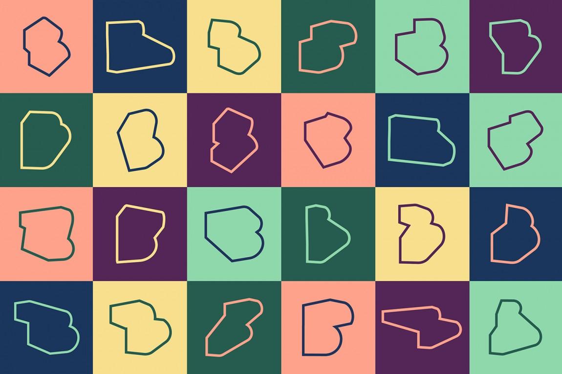 伦敦Broadgate城市形象设计, logo图形设计