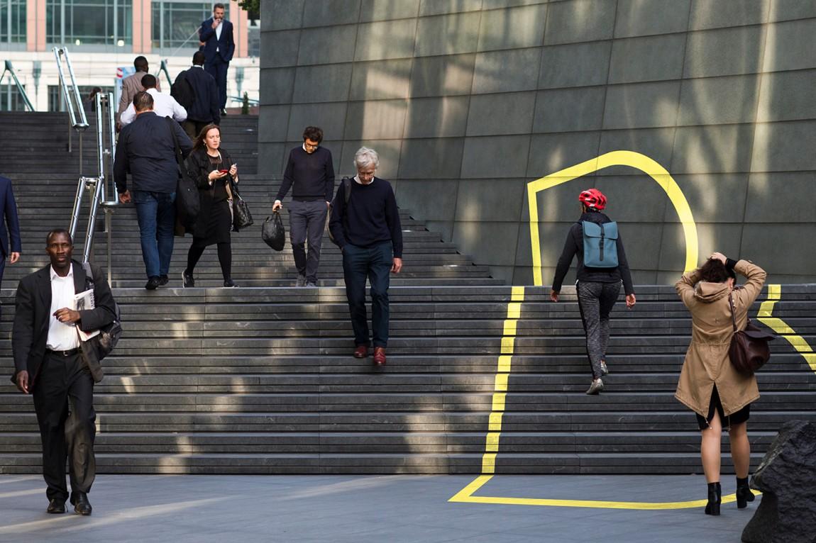 伦敦Broadgate城市形象设计,环境应用设计