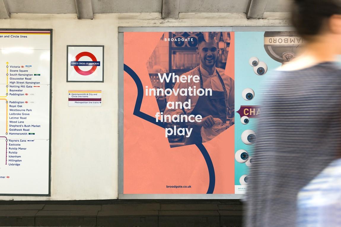 伦敦Broadgate城市形象设计,海报设计