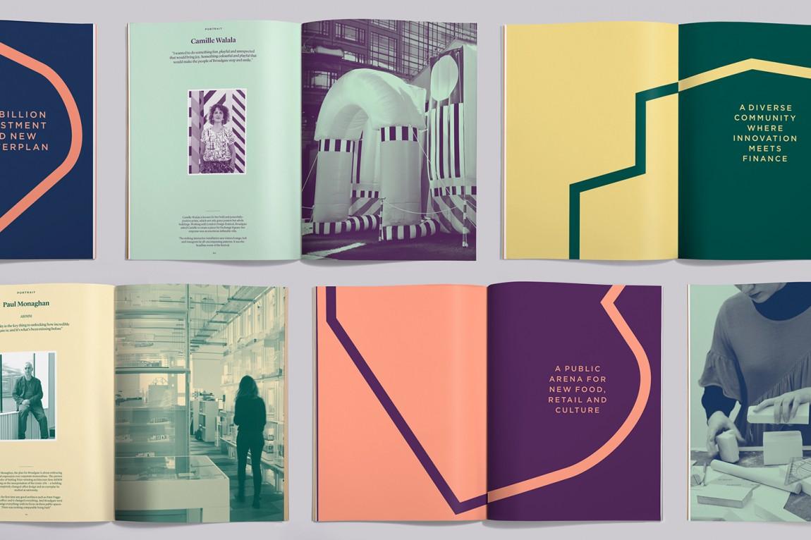 伦敦Broadgate城市形象设计,画册设计