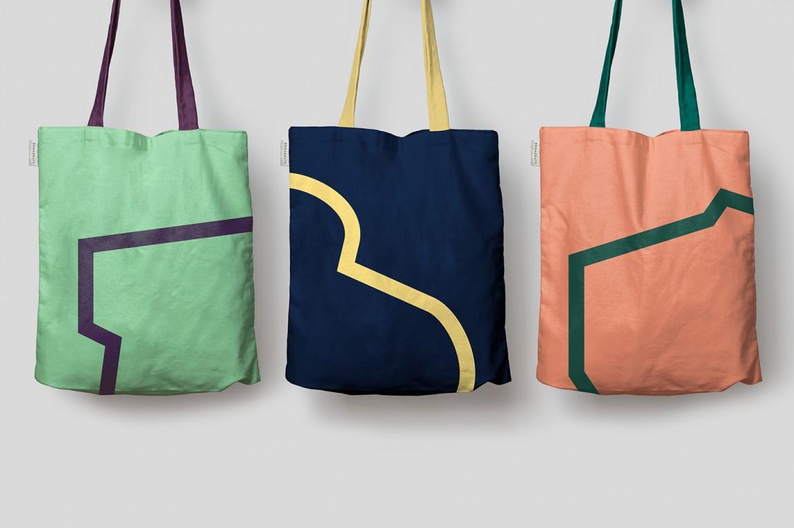 伦敦Broadgate城市形象设计,手提袋设计