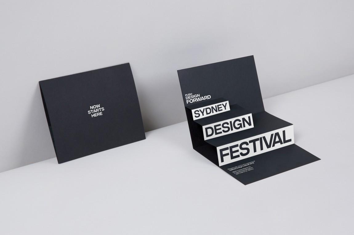 悉尼设计节视觉传达艺术设计,展示卡设计