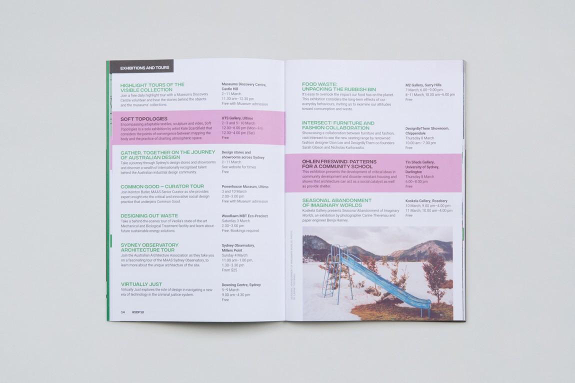 悉尼设计节视觉传达艺术设计,宣传册设计