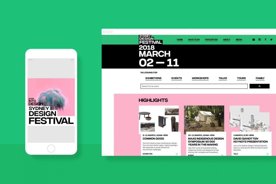 悉尼设计节视觉传达艺术设计,网站设计