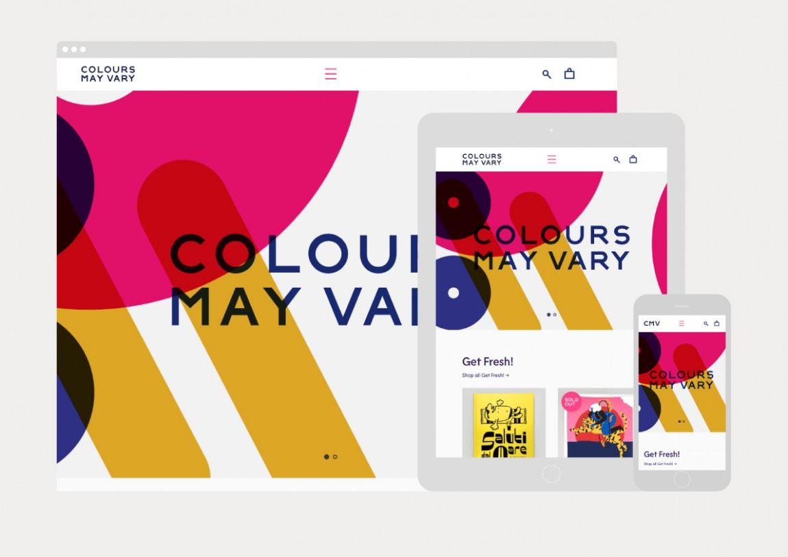 Colours May Vary创意空间视觉传达设计(视觉识别系统设计),官方网站设计
