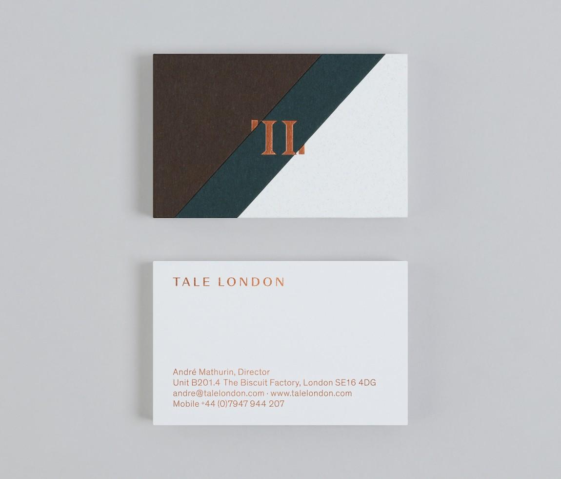 Tale London建筑空间效果图公司VI形象设计,名片设计