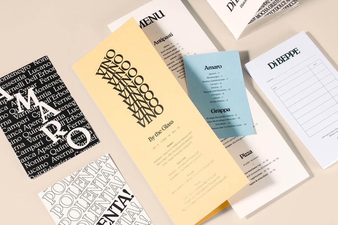 意大利健康饮食餐厅Di Beppe餐饮品牌设计