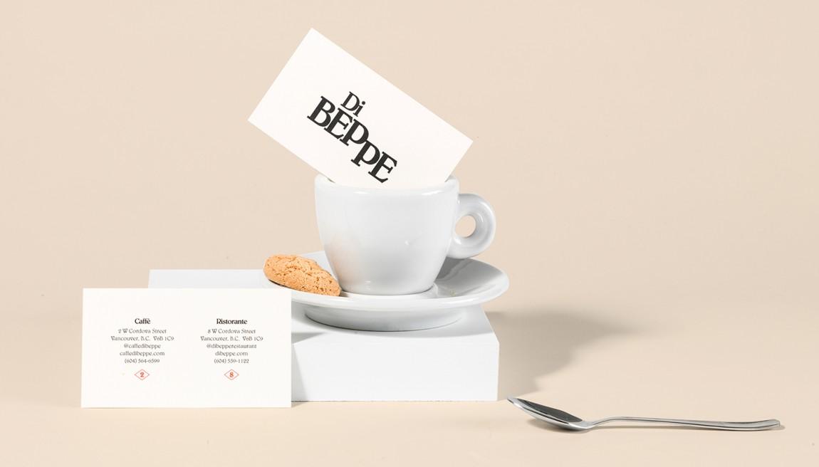 意大利健康饮食餐厅Di Beppe餐饮品牌设计,台卡设计