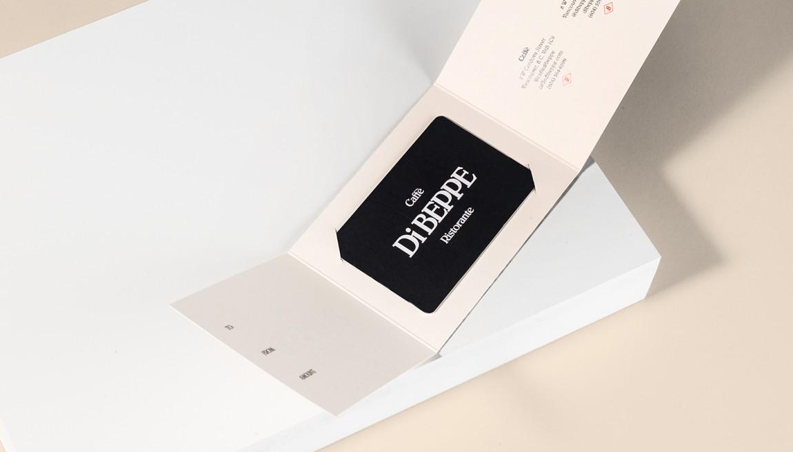 意大利健康饮食餐厅Di Beppe餐饮品牌设计,名片设计