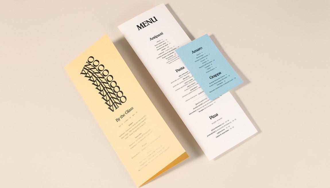 意大利健康饮食餐厅Di Beppe餐饮品牌设计,菜单设计