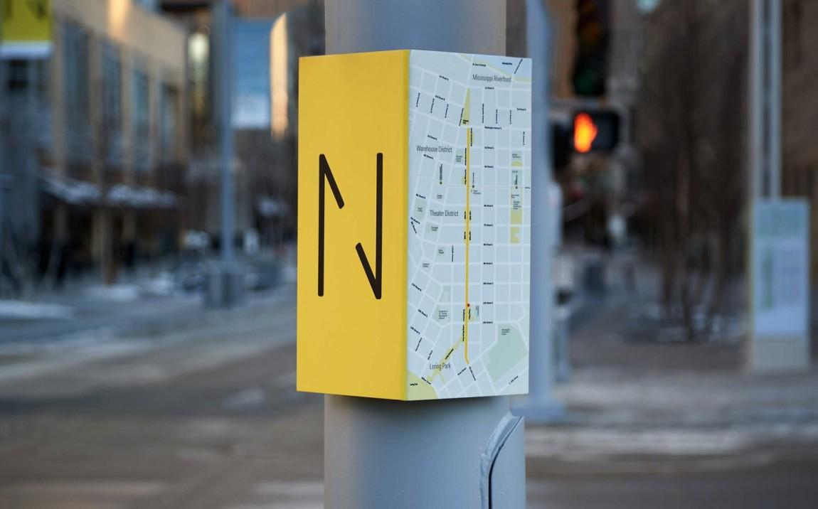 Nicollet商业街视觉形象VI,环境导视设计系统设计