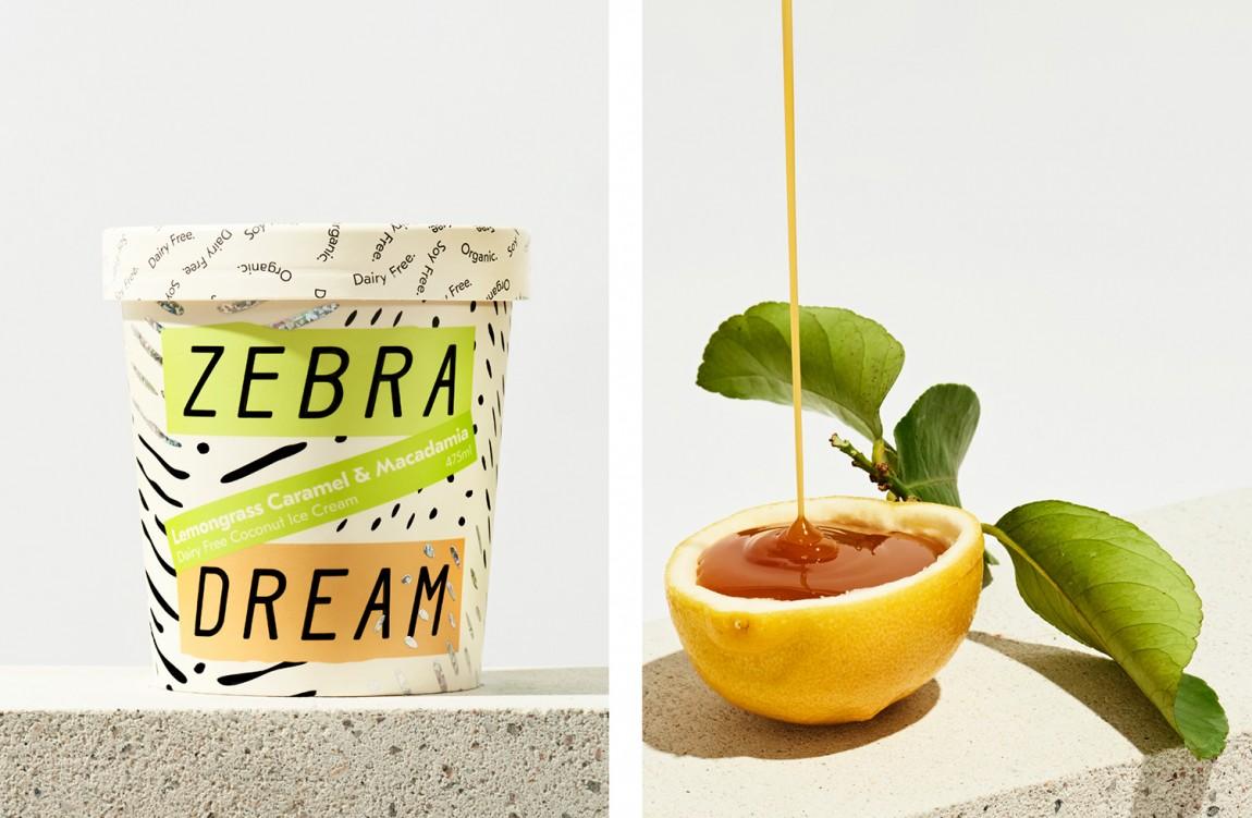 Zebra Dream有机冰淇淋产品品牌包装设计