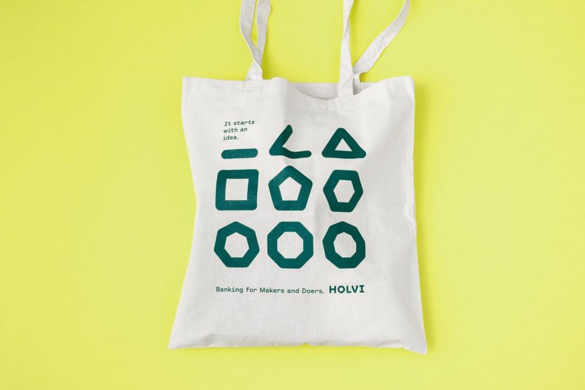 Holvi金融数字银行cis企业形象设计,宣传广告设计,手提袋设计
