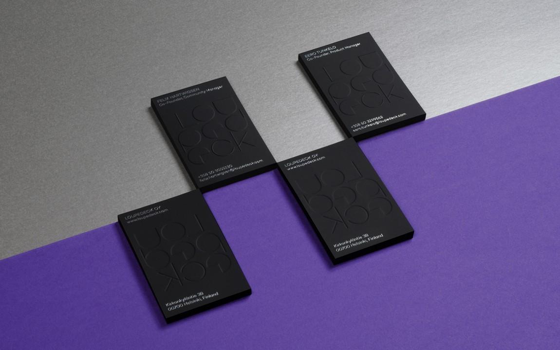 Loupedeck图形处理公司vis设计,名片设计