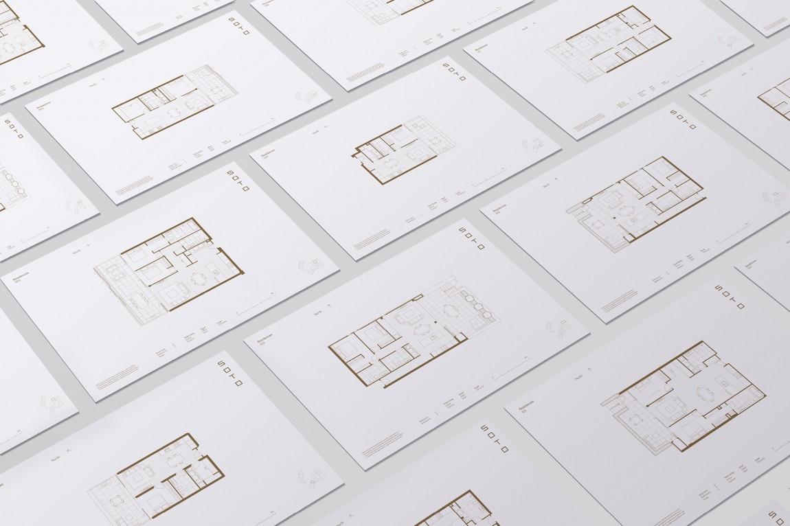 奥克兰Soto房地产vi设计,平面图设计