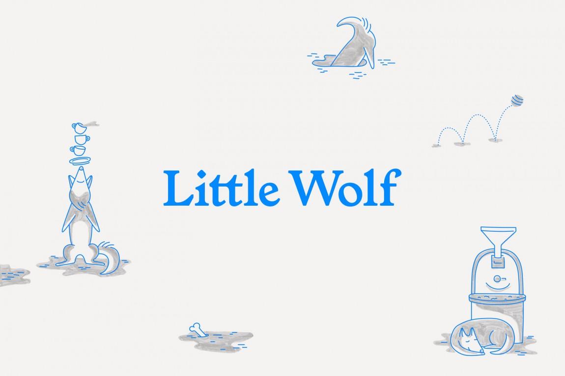 如何提升品牌形象?Little Wolf烘焙工坊咖啡馆品牌vi设计,字体logo设计