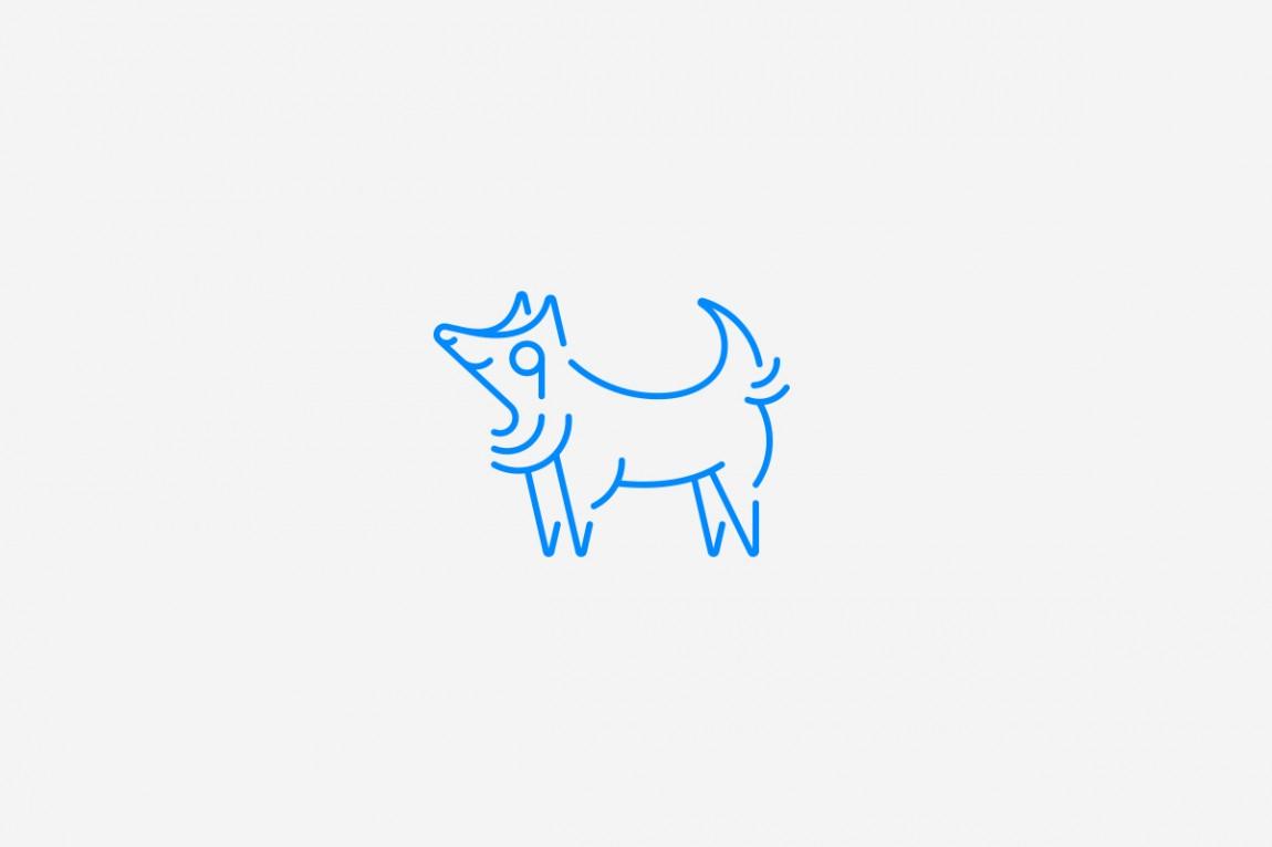 如何提升品牌形象?Little Wolf烘焙工坊咖啡馆品牌vi设计,图形logo设计