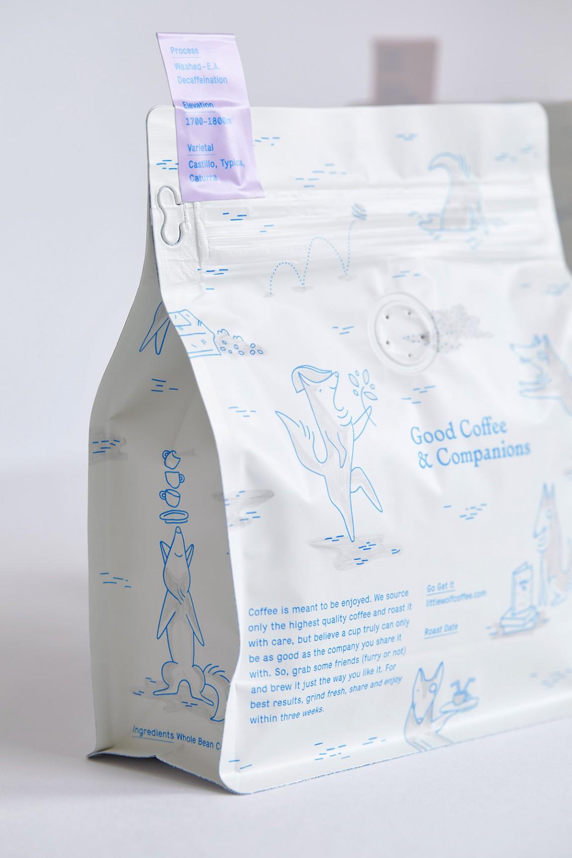 如何提升品牌形象?Little Wolf烘焙工坊咖啡馆品牌vi设计,包装设计