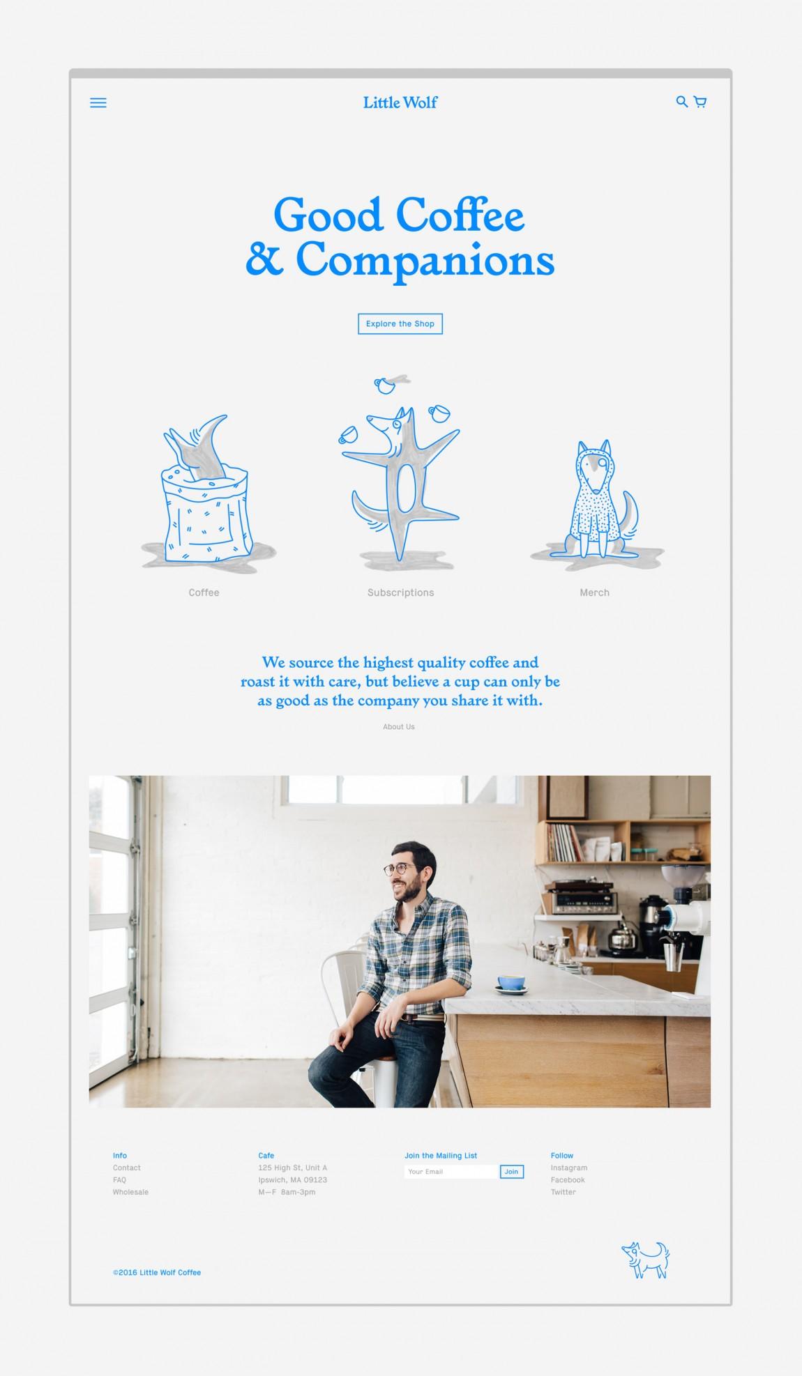 如何提升品牌形象?Little Wolf烘焙工坊咖啡馆品牌vi设计,网站设计