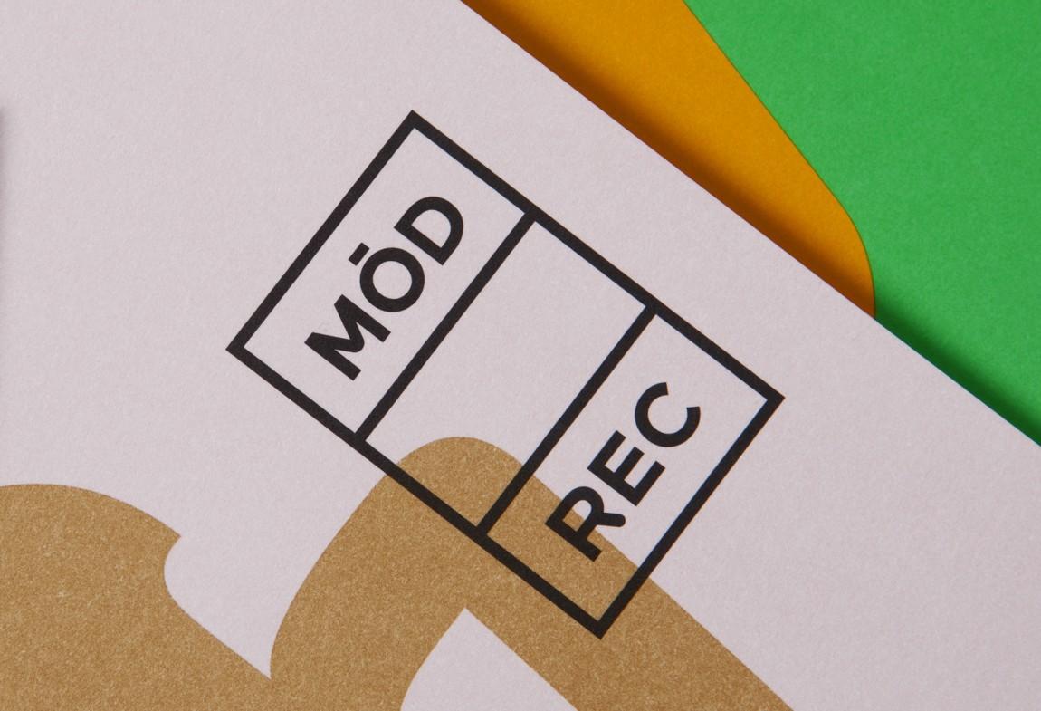 现代娱乐ModRec国际咖啡订阅服务品牌形象塑造设计,字体logo设计