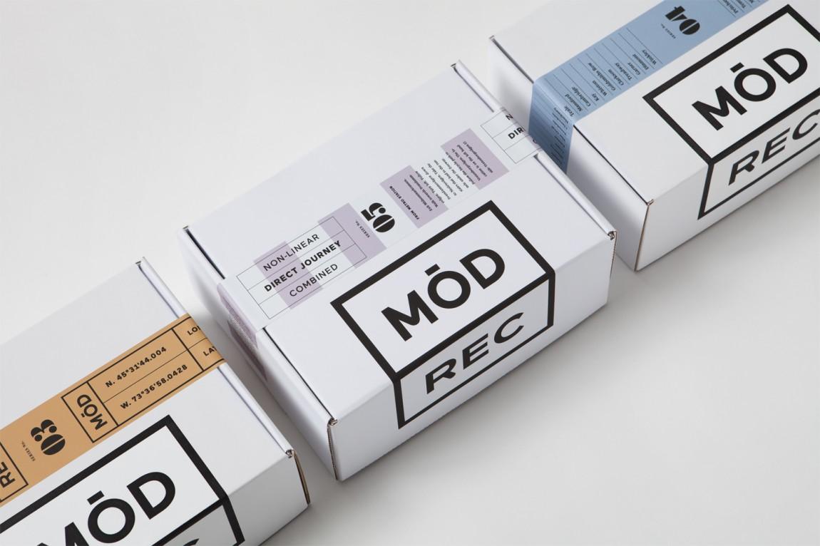 现代娱乐ModRec国际咖啡订阅服务品牌形象塑造设计,产品包装设计