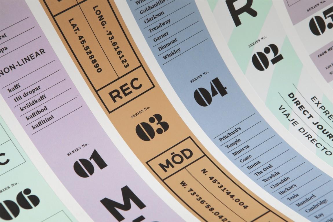 现代娱乐ModRec国际咖啡订阅服务品牌形象塑造设计,胶带设计