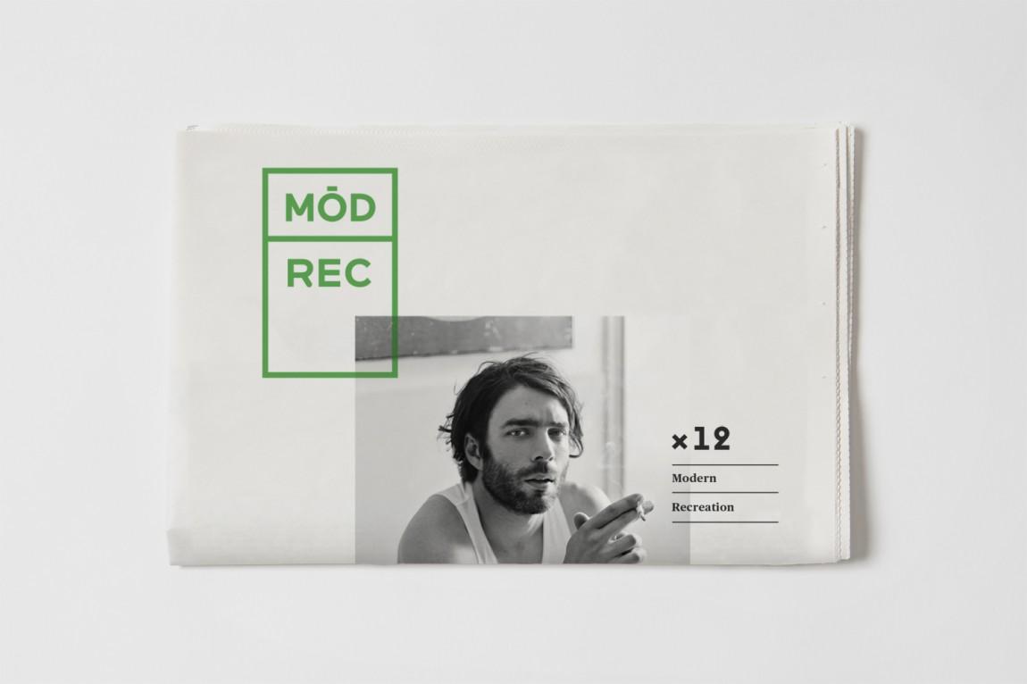 现代娱乐ModRec国际咖啡订阅服务品牌形象塑造设计,报纸广告设计