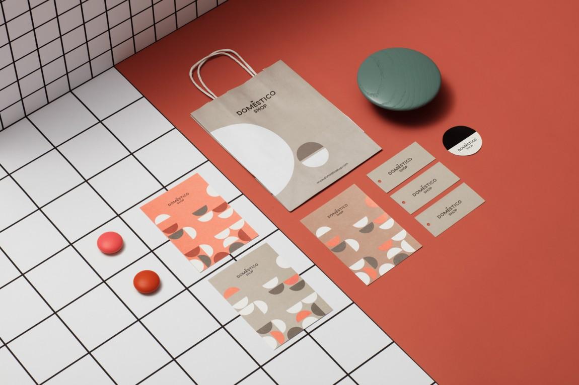 DomesticoShop在线零售家居领导品牌vi形象设计,vis手册