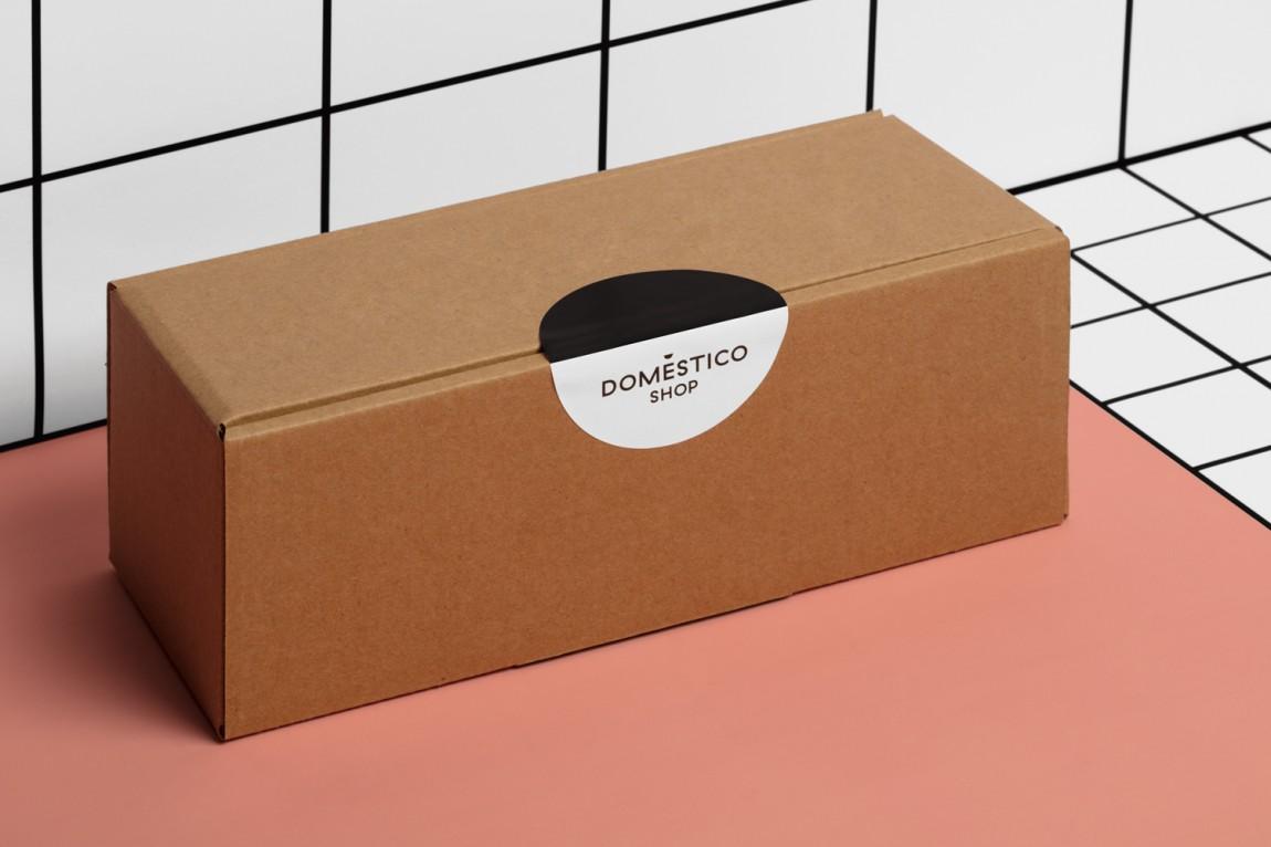 DomesticoShop在线零售家居领导品牌vi形象设计,包装盒设计