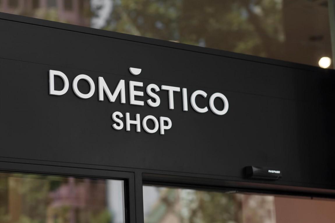 DomesticoShop在线零售家居领导品牌vi形象设计,导视系统设计